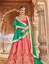 image of Eid Special Embroidered Silk Designer Lehenga Choli
