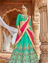 image of Eid Special Silk Function Wear Embellished Lehenga