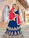image of Eid Special Embroidered Wedding Wear Lehenga Choli in Silk
