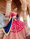 photo of Wedding Function Wear Silk Rani Fancy Lehenga