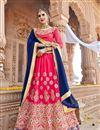 image of Wedding Function Wear Silk Rani Fancy Lehenga