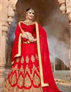 image of Eid Special Silk Function Wear Embellished Fancy Lehenga