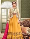 image of Eid Special Embroidered Fancy Georgette And Art Silk Long Anarkali Dress