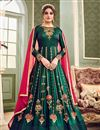 image of Eid Special Function Wear Fancy Art Silk Anarkali Salwar Suit