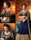 photo of Art Silk Designer Lehenga Choli In Navy Blue With Embroidery Work