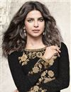 photo of Priyanka Chopra Straight Cut Embroidered Suit In Black