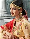 photo of Function Wear Fancy Fabric Beige Embroidered Lehenga