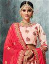 photo of Pink Designer Wedding Wear Embroidered Fancy Fabric Lehenga Choli