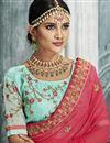 photo of Light Cyan Designer Wedding Wear Embroidered Fancy Fabric Lehenga Choli