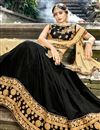 photo of Embroidery Work On Black Party Wear Lehenga Choli In Chiffon