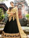 image of Embroidery Work On Black Party Wear Lehenga Choli In Chiffon