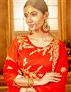 photo of Sangeet Wear Art Silk Embellished Lehenga Choli In Red