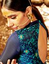 photo of Art Silk Embroidered Festive Wear Lehenga Choli In Navy Blue