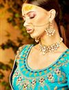 photo of Art Silk Occasion Embellished Sky Blue Lehenga Choli