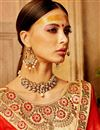 photo of Art Silk Occasion Embellished Chikoo Color Lehenga Choli