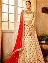 image of Art Silk Occasion Embellished Chikoo Color Lehenga Choli