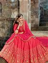 photo of Weddding Wear Art Silk Embroidered Designer Lehenga Choli In Crimson Color