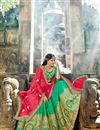 photo of Wedding Special Embellished Cyan Reception Wear Fancy Lehenga Choli In Art Silk