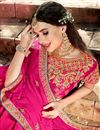 photo of Enigmatic Art Silk Embellished Fancy Lehenga Choli In Rani Color