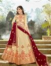 image of Function Wear Fancy Art Silk Designer Chaniya Choli In Beige