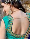photo of Weddding Wear Turquoise Embroidered Designer Lehenga Choli In Art Silk