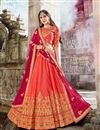 image of Function Wear Fancy Art Silk Designer Chaniya Choli In Red