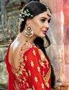 photo of Embellished Art Silk Reception Wear Fancy Lehenga Choli In Maroon