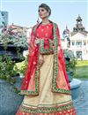 image of Festive Special Art Silk Party Wear Lehenga Choli In Beige With Embroidery Work