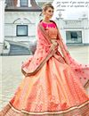 photo of Wedding Special Salmon Art Silk Occasion Wear Lehenga Choli With Embroidery Work