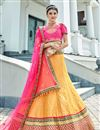 image of Yellow Designer Lehenga With Embroidery Designs And Enigmatic Blouse