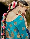 photo of Festive Special Embroidered Sky Blue Designer 3 Piece Lehenga In Art Silk Fabric