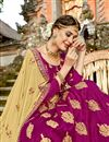 photo of Wedding Special Dark Magenta Embroidered Art Silk Party Wear Lehenga With Enchanting Blouse