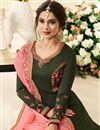 photo of Jennifer Winget Designer Anarkali Suit In Mehendi Green Art Silk With Embroidery Work