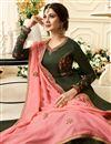 picture of Jennifer Winget Designer Anarkali Suit In Mehendi Green Art Silk With Embroidery Work