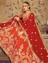 photo of Eid Special Occasion Wear Lehenga In Orange Color  Art Silk Fabric With Embroidery Work