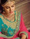 photo of Art Silk Fabric Party Wear Lehenga Choli In Cyan With Embroidery Work