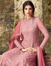 photo of Festive Special Pink Georgette Embellished Suit With Palazzo Bottom
