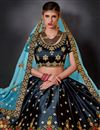 photo of Art Silk Party Wear Lehenga Choli In Black With Embroidery Work