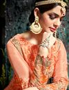 photo of Designer Anarkali Salwar Suit With Embroidery Work In Peach Georgette