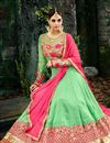 photo of Georgette Sea Green Function Wear Embroidered Anarkali Suit