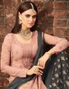 photo of Pink Occasion Wear Georgette Fabric Palazzo Suit With Embroidery Work