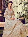 photo of Dark Beige Art Silk Fabric Festive Wear Anarkali Suit With Embroidery Designs
