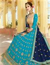 photo of Sangeet Wear Fancy Georgette Fabric Lehenga Choli With Embroidery