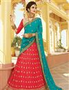image of Georgette Fabric Designer Function Wear Lehenga With Fancy Embroidery
