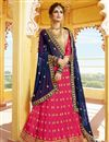 image of Sangeet Wear Fancy Rani Color Lehenga Choli With Embroidery