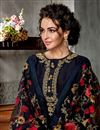 photo of Black Party Wear Embroidered Palazzo Suit In Georgette Fabric