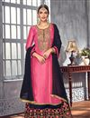 image of Designer Fancy Georgette Pink Palazzo Dress With Embroidery Work