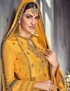 photo of Designer Fancy Georgette Yellow Palazzo Dress With Embroidery Work