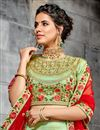 photo of Designer Function Wear Art Silk Traditional Embroidered Lehenga Choli In Sea Green
