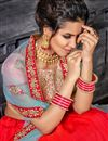 photo of Function Wear Designer Embroidered Red Lehenga Choli In Art Silk